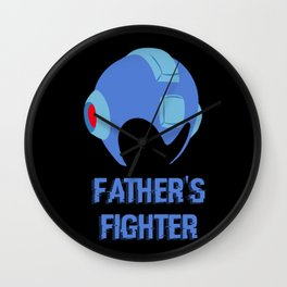 Father's Fighter Wall Clock