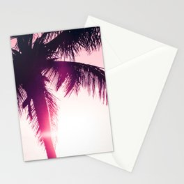 pink palm tree silhouettes kihei tropical nights Stationery Cards