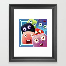 Glutton Jelly Monsters - all Framed Art Print