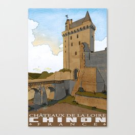 Chinon of France Canvas Print