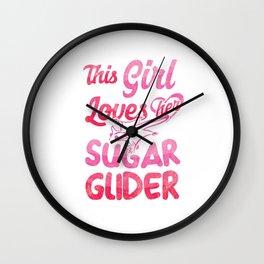 This Girl Love Sugar Glider Omnivorous Flying Squirrel Arboreal Animal Pet Wildlife Gift Wall Clock