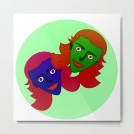 Alien girlies Metal Print