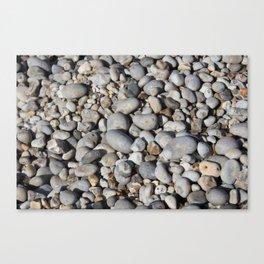 Gravel beach pebbles Canvas Print
