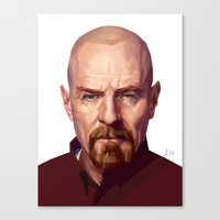 walter white Canvas Prints featuring WALTER WHITE by nachodraws