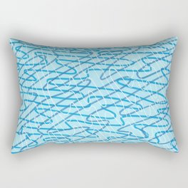 Blue Ripples Rectangular Pillow
