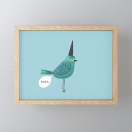 Birds With Attitude: Toot Framed Mini Art Print
