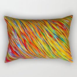 Abstract Acrylic ; August Rectangular Pillow