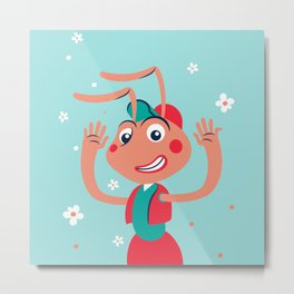 Hello children, says the working ant Metal Print