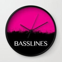 Basslines Wall Clock