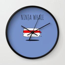 Ninja Whale Wall Clock