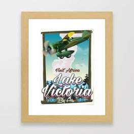 Lake Victoria African vacation poster Framed Art Print