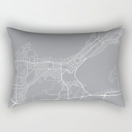 Madison Map, Wisconsin USA - Pewter Rectangular Pillow