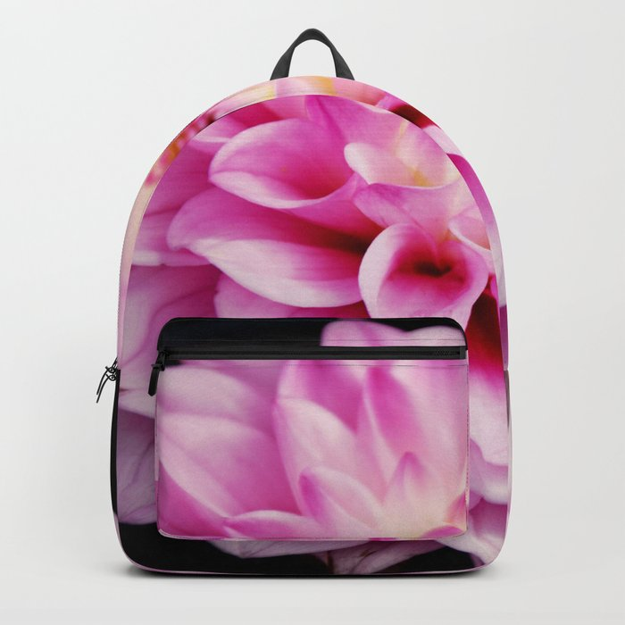 Close up pink dahlia Backpack
