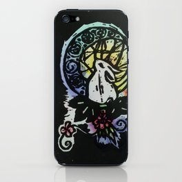 Rabbit in the Moon (Color) iPhone Skin