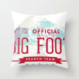 Big Foot Search Team Throw Pillow