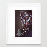 mf doom Framed Art Prints featuring MF Doom by K-mu Toma