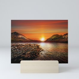 Idwal Lake Sunset Mini Art Print