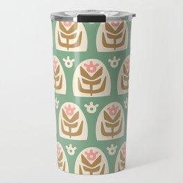 Mid Century Modern Sunflower 107 Travel Mug