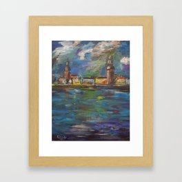 Stormy, Stormy Night ... In Rīga, Latvia Framed Art Print