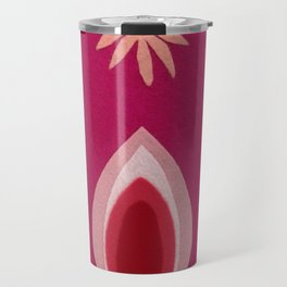de Flower [pink] Travel Mug