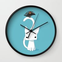 anime Wall Clocks featuring Cat and Raven by Freeminds