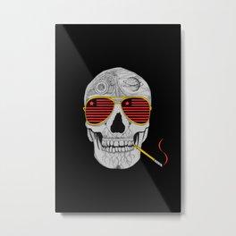 GONZO SKULL Metal Print