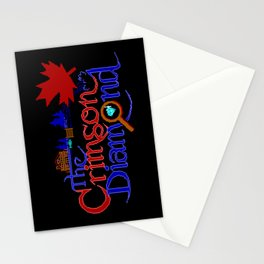 The Crimson Diamond colour logo Stationery Cards
