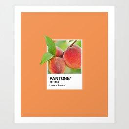 PANTONE SERIES – PEACH Art Print