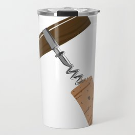 Corkscrew with Cork Travel Mug
