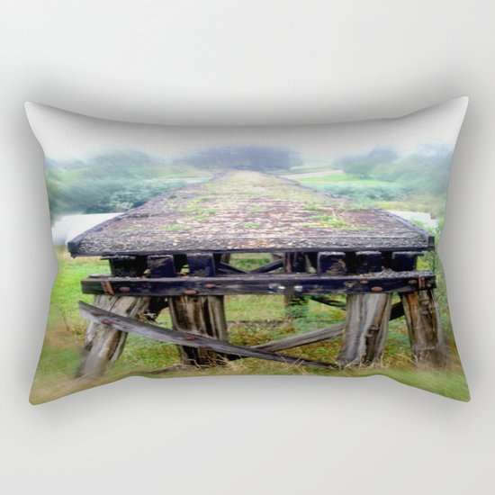 End of the Line Rectangular Pillow