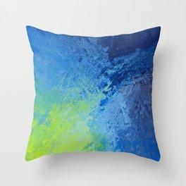Blue Green Madness  Throw Pillow