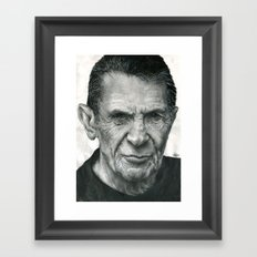 Leonard Nimoy Traditional Portrait Print Framed Art Print