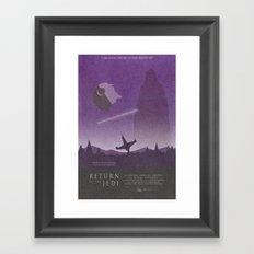 Return of the Jedi Movie Poster Framed Art Print