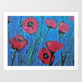 Poppies Red Art Print