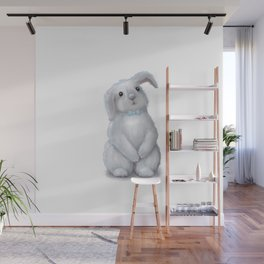 White Rabbit Boy isolated Wall Mural