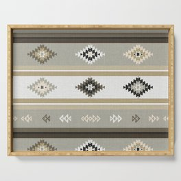 Neutral Kilim Serving Tray