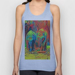 AnimalColor_Elephant_001_by_JAMColors Unisex Tank Top