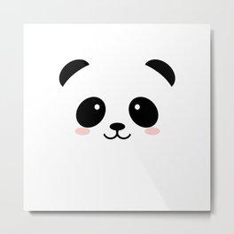 Baby panda emoji Metal Print