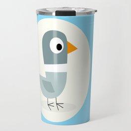 Mr Bird Blue Travel Mug