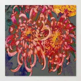 Chrysanthemum-Red/Pink/Yellow Canvas Print
