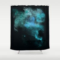 psychology Shower Curtains featuring a cold nebula by Gabrielle Agius