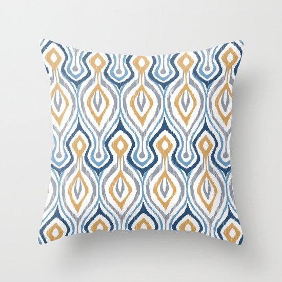 Sketchy Ikat - Saddle Throw Pillow