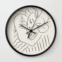 Vintage poster-Henri Matisse-Linear drawings. Wall Clock