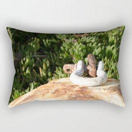 Old Rusty Buoy Rectangular Pillow