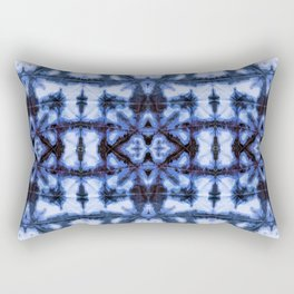 Blue Oxford Shibori Rectangular Pillow