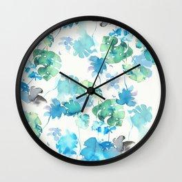 green tropical. collab dylan silva and francisco fonseca Wall Clock