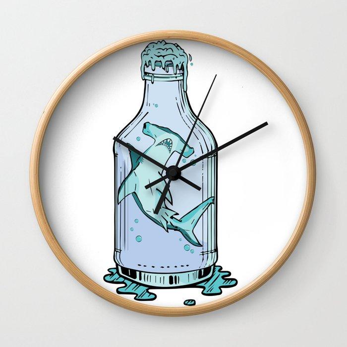 Hammered Sea Foam Vodka Wall Clock