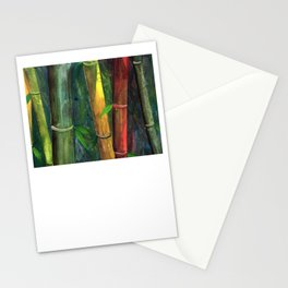 Colorful bamboo painting with gouache Stationery Cards