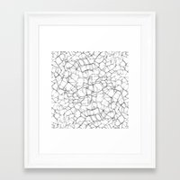 cracked Framed Art Prints featuring Cracked by Catrin Eluned