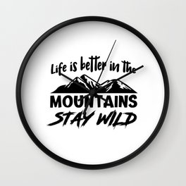 Mountains Love Wall Clock